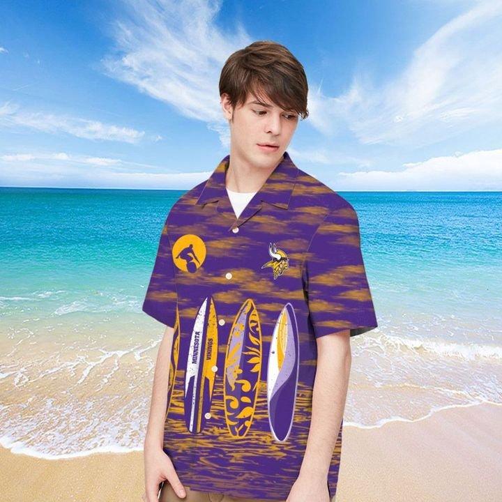 Minnesota Vikings Hawaiian shirt And Beach SHORT 14