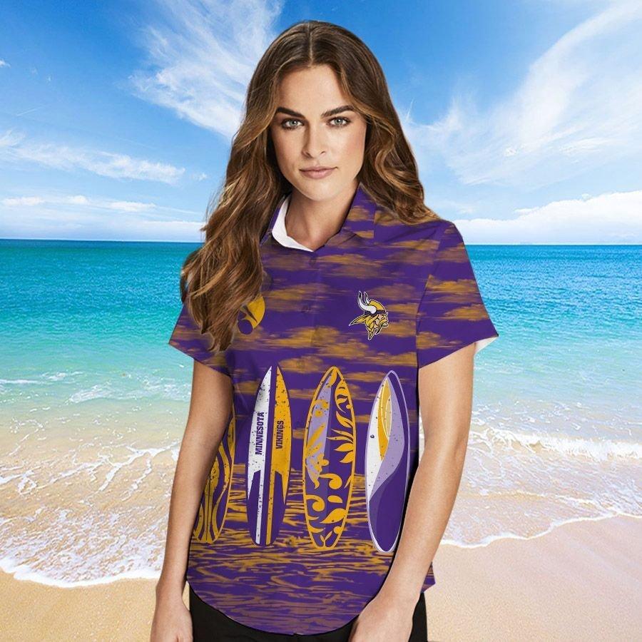 Minnesota Vikings Hawaiian shirt And Beach SHORT 13