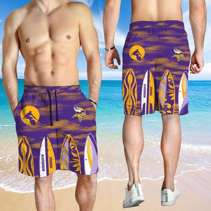 Minnesota Vikings Hawaiian shirt And Beach SHORT 12