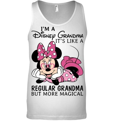 Minnie Mouse I'm A Disney Grandma It's Like A Regular Grandma But Mor Magical Shirt 4