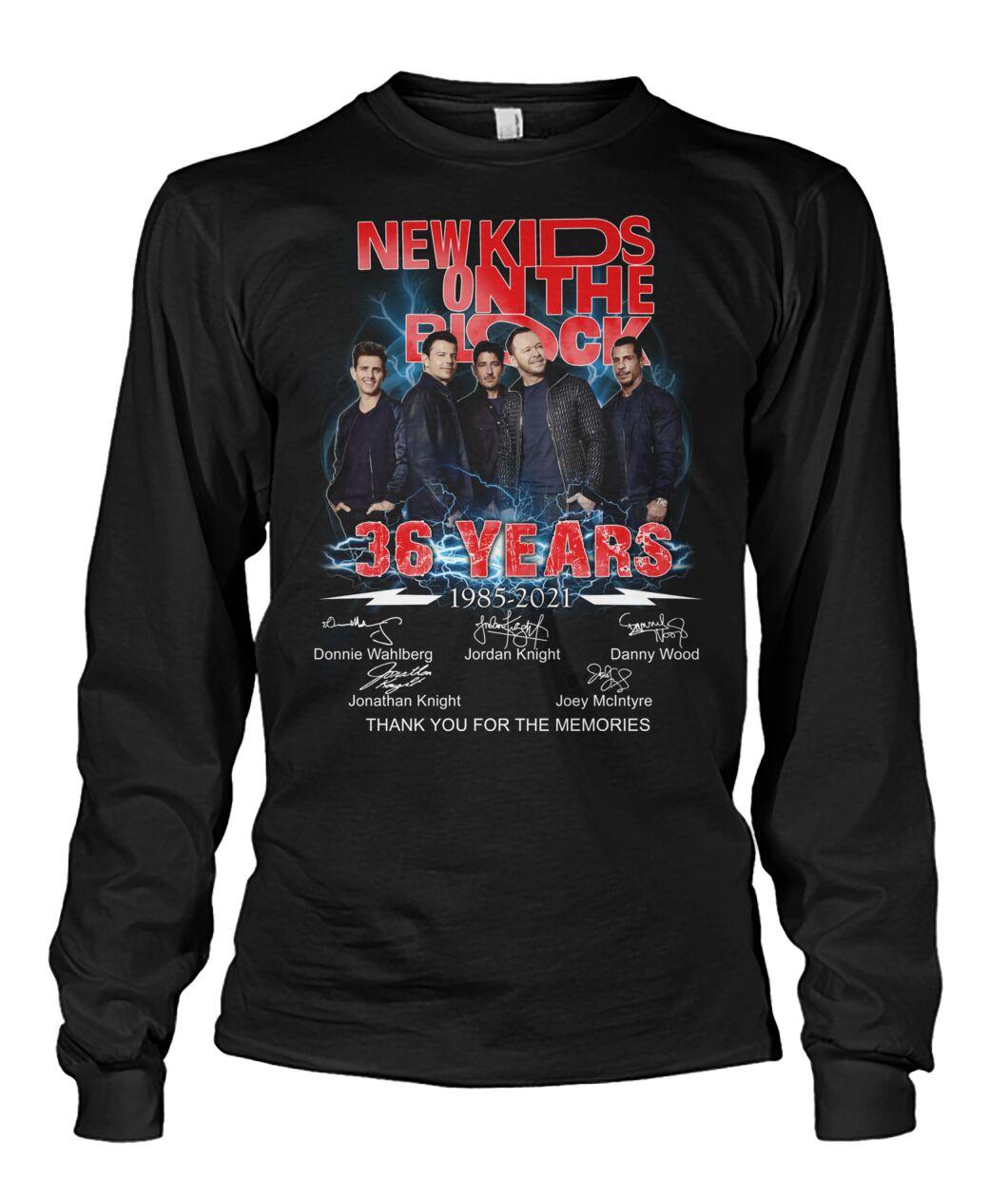 New Kids On The Block 36 Years 1985 - 2021 Shirt 13