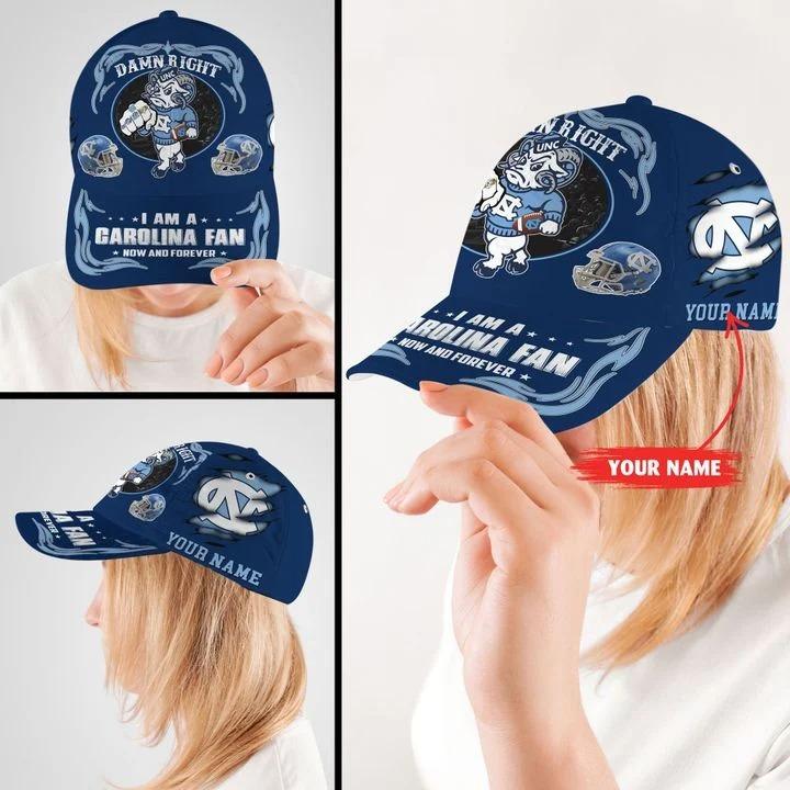 Northcthe capmascot Damn right I am a Garolina fan now and forever custom cap 8
