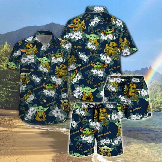 Nottre Dame Fighting Irish Yoda Hawaiian And Beach Short 3