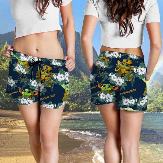 Nottre Dame Fighting Irish Yoda Hawaiian And Beach Short 4