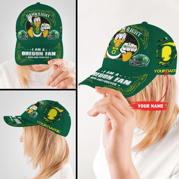 ORDU Damn right I am a Oregon Fan now and forever custom name cap 8