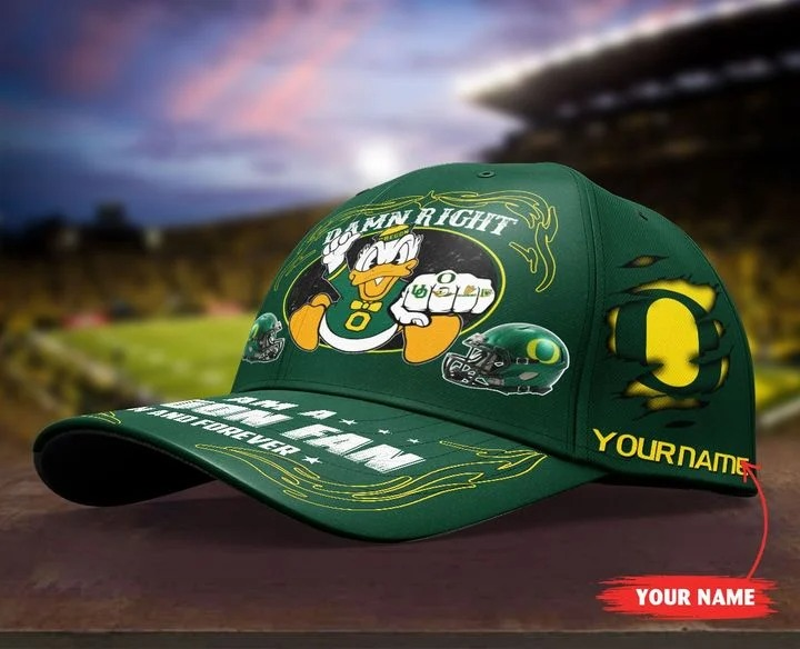 ORDU Damn right I am a Oregon Fan now and forever custom name cap 9