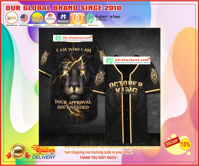 October lion king I am who I am Baseball Jersey 9