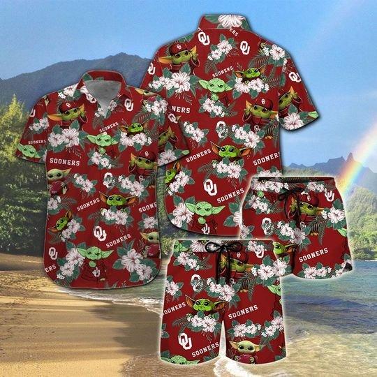 Oklahoma State Cowboys And Yoda Hawaiian And Beach Short 3