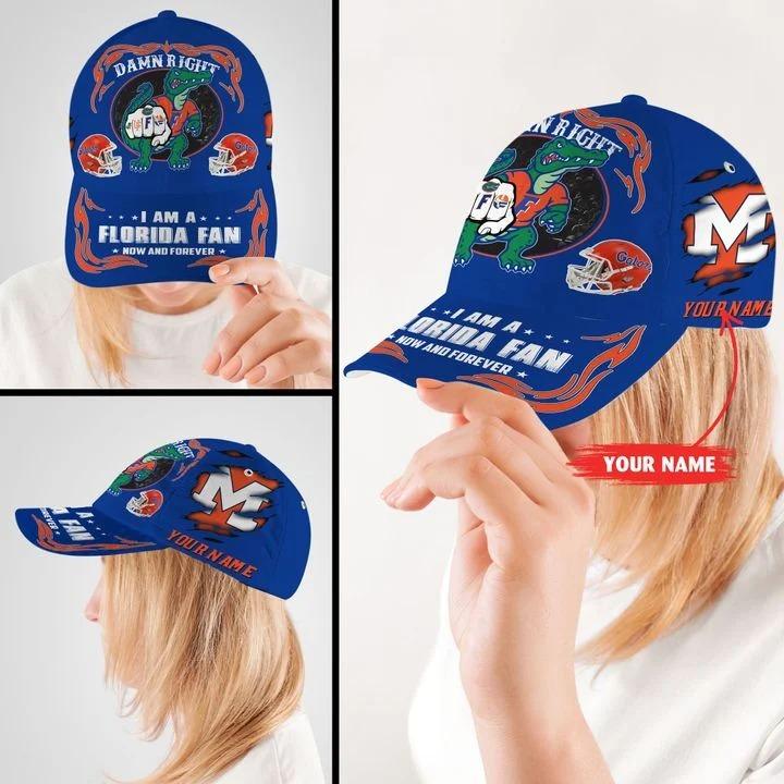 PLGA Damn right I am a Florida fan now and forever custom cap 8