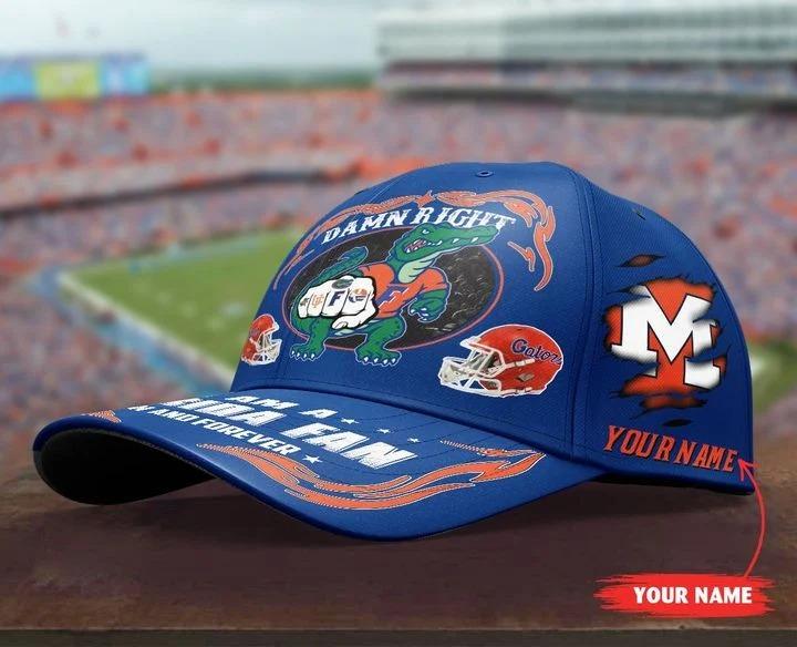 PLGA Damn right I am a Florida fan now and forever custom cap 7