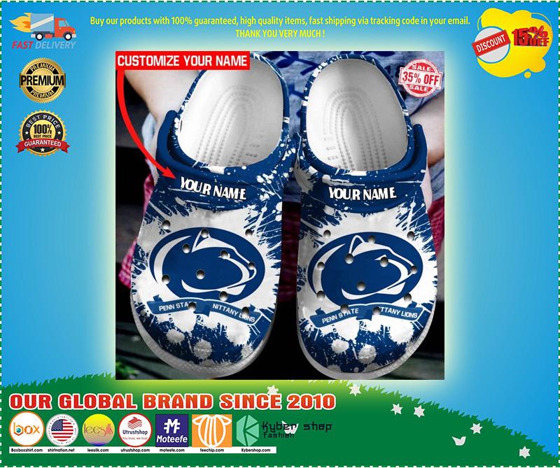 Penn State Nittany Lions custom name crocs crocband clog 9
