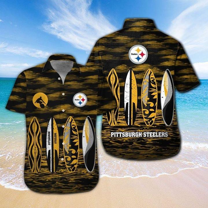 Pittsburgh Steelers Hawaiian shirt And Beach SHORT 14