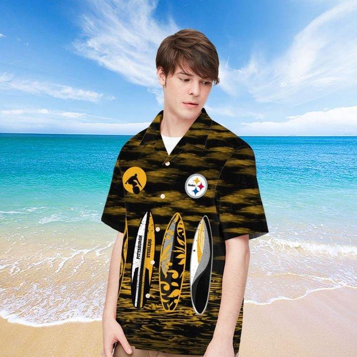 Pittsburgh Steelers Hawaiian shirt And Beach SHORT 13