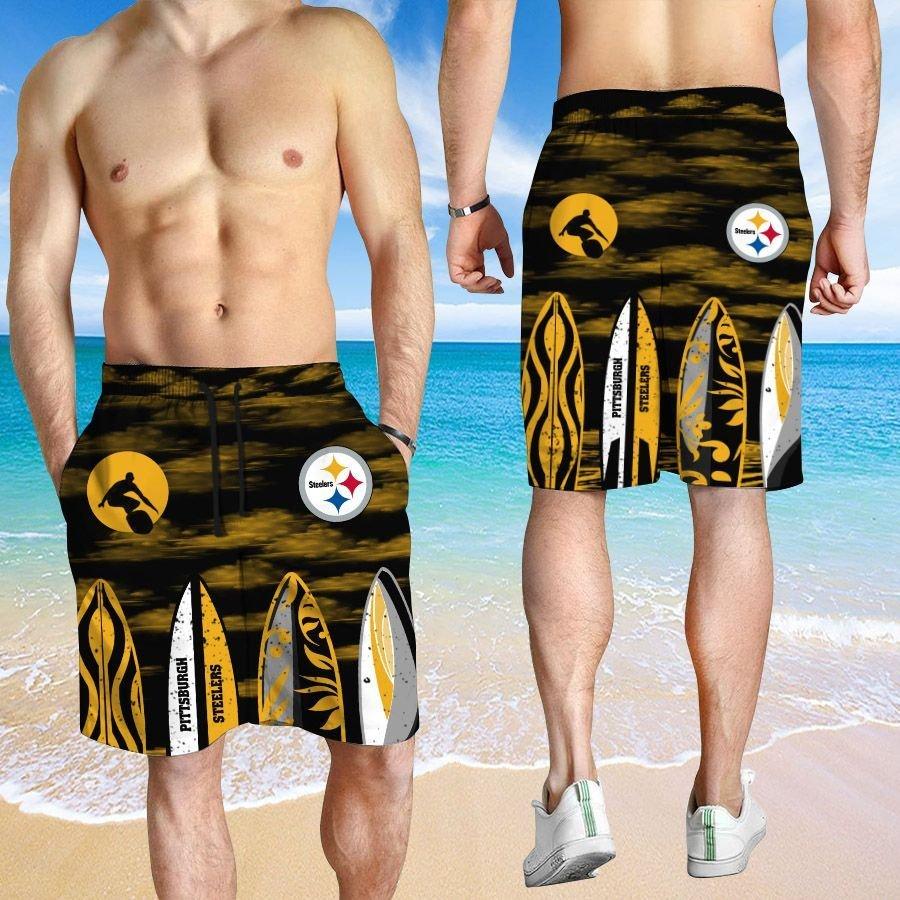 Pittsburgh Steelers Hawaiian shirt And Beach SHORT 12