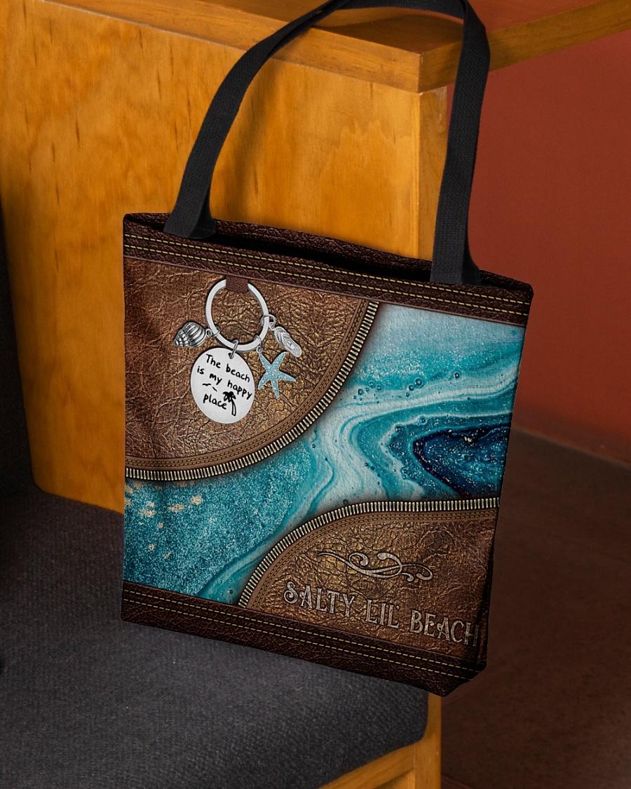 Salty lil beach tote bag 8