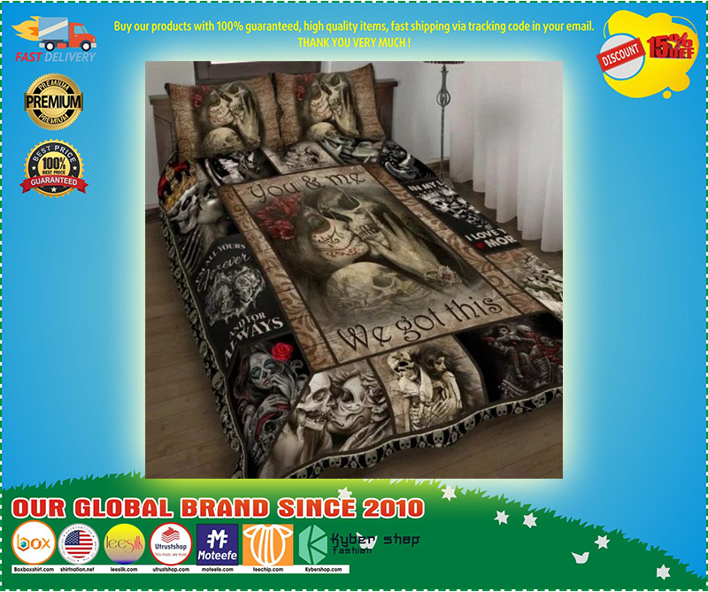 Skull You and me we got this quilt bedding set 11