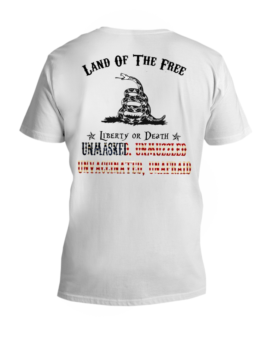 Snake Land Of THe Free Liberty Of Death Unmasked Shirt 10