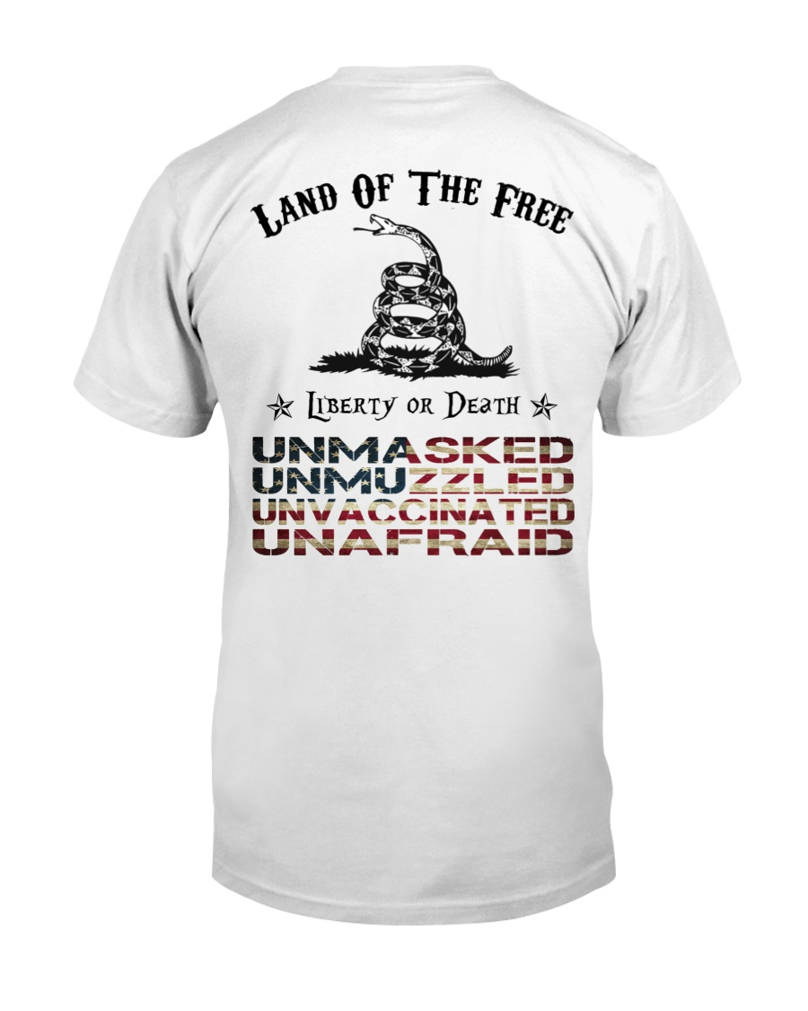 Snake Land Of The Free Liberty Or Death Shirt 12