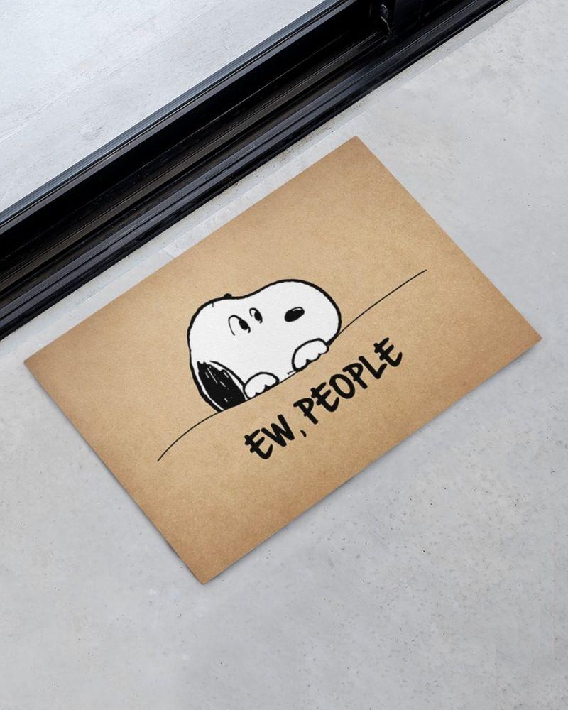 Snoopy doo Ew people doormat 9
