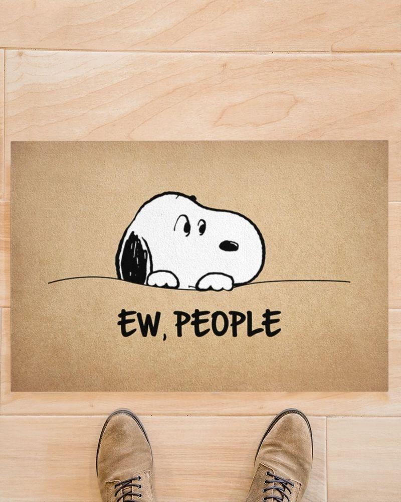 Snoopy doo Ew people doormat 11