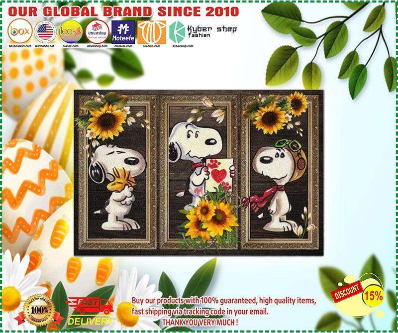 Snoopy doo sunflower doormat 10