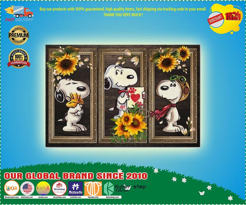 Snoopy doo sunflower doormat 9