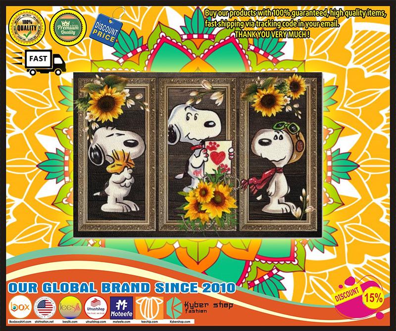 Snoopy doo sunflower doormat 11