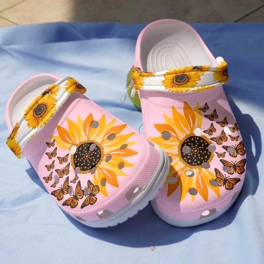 Sunflower butterfly crocs crocband clog 4