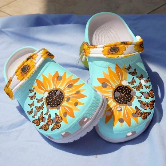 Sunflower butterfly crocs crocband clog 2