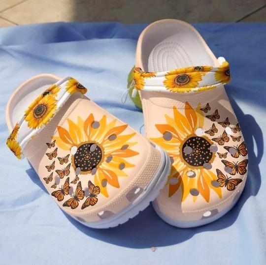 Sunflower butterfly crocs crocband clog 1