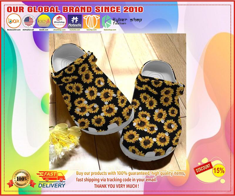 Sunflower crocs crocband clog