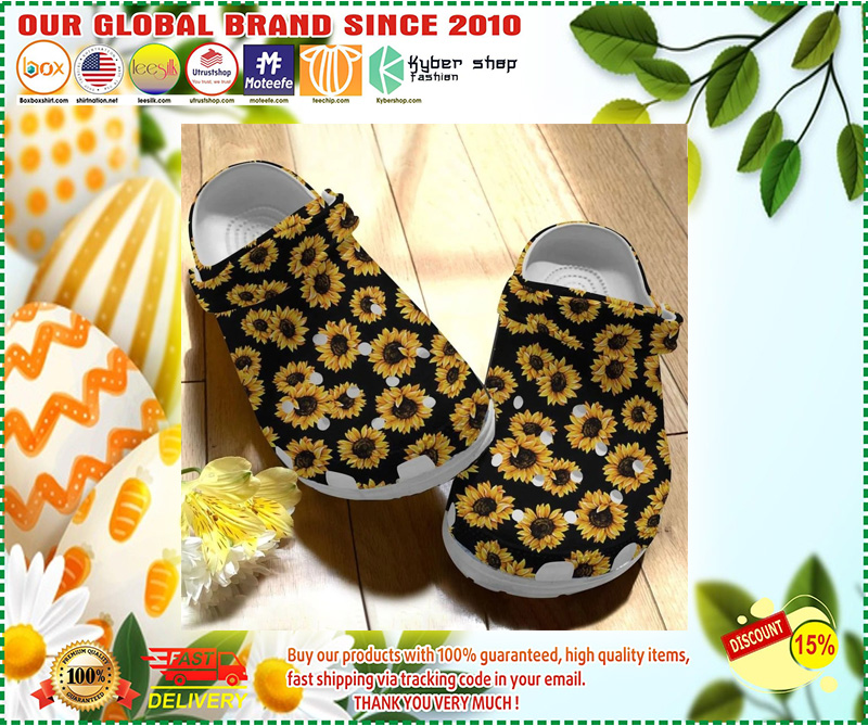 Sunflower crocs crocband clog 7