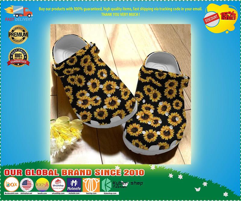 Sunflower crocs crocband clog 8