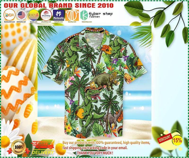 Taco dinosaur hawaiian shirt 11