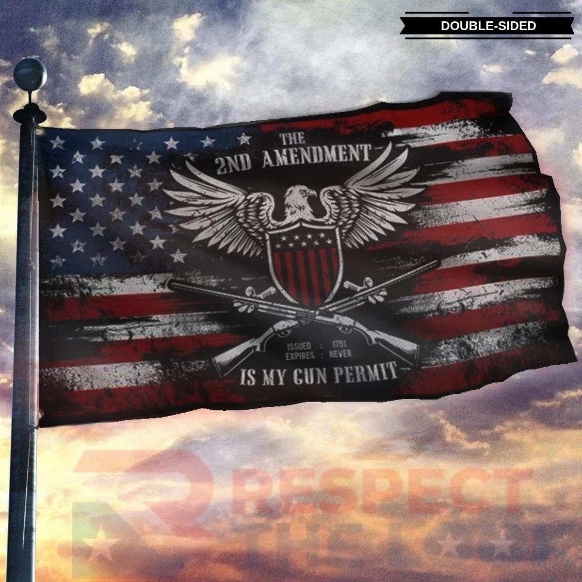 The 2ND amendment is my gun permit flag 9