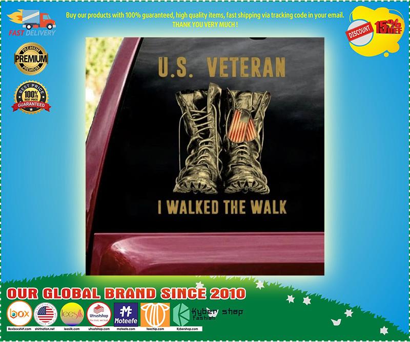US veteran I walked the walk car decal 11