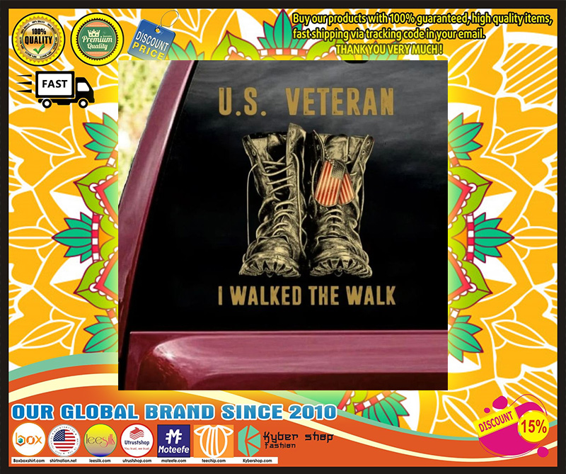 US veteran I walked the walk car decal 9
