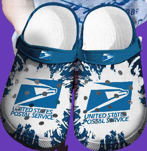 United Stated Postal Service crocs clog crocband shoes.jpg1