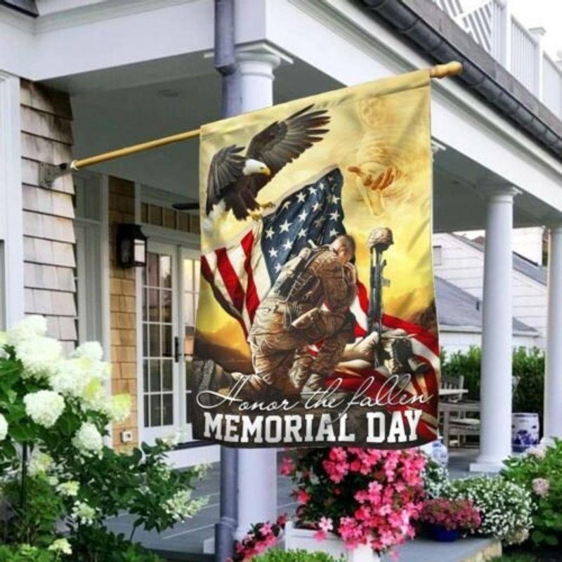 Veteran eagle American honor the fallen memorial day flag 9
