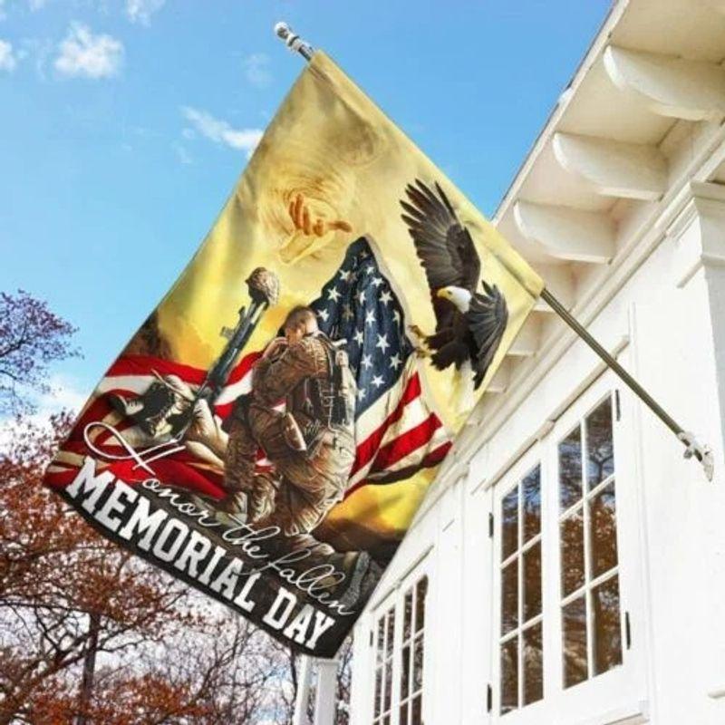 Veteran eagle American honor the fallen memorial day flag 11