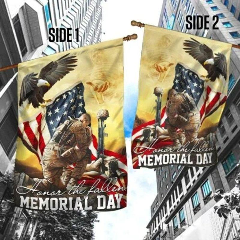 Veteran eagle American honor the fallen memorial day flag 10