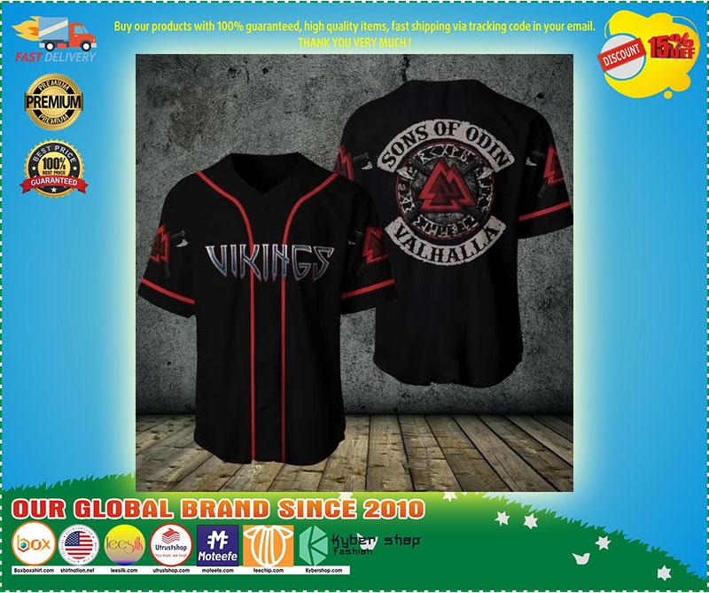 Viking sons of odin valhalla baseball shirt 9
