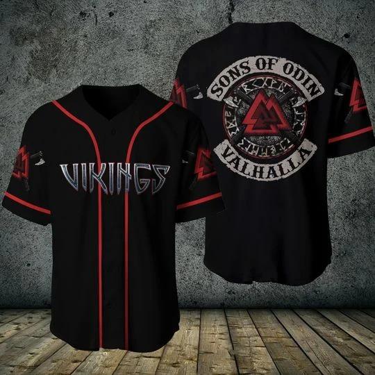 Viking sons of odin valhalla baseball shirt