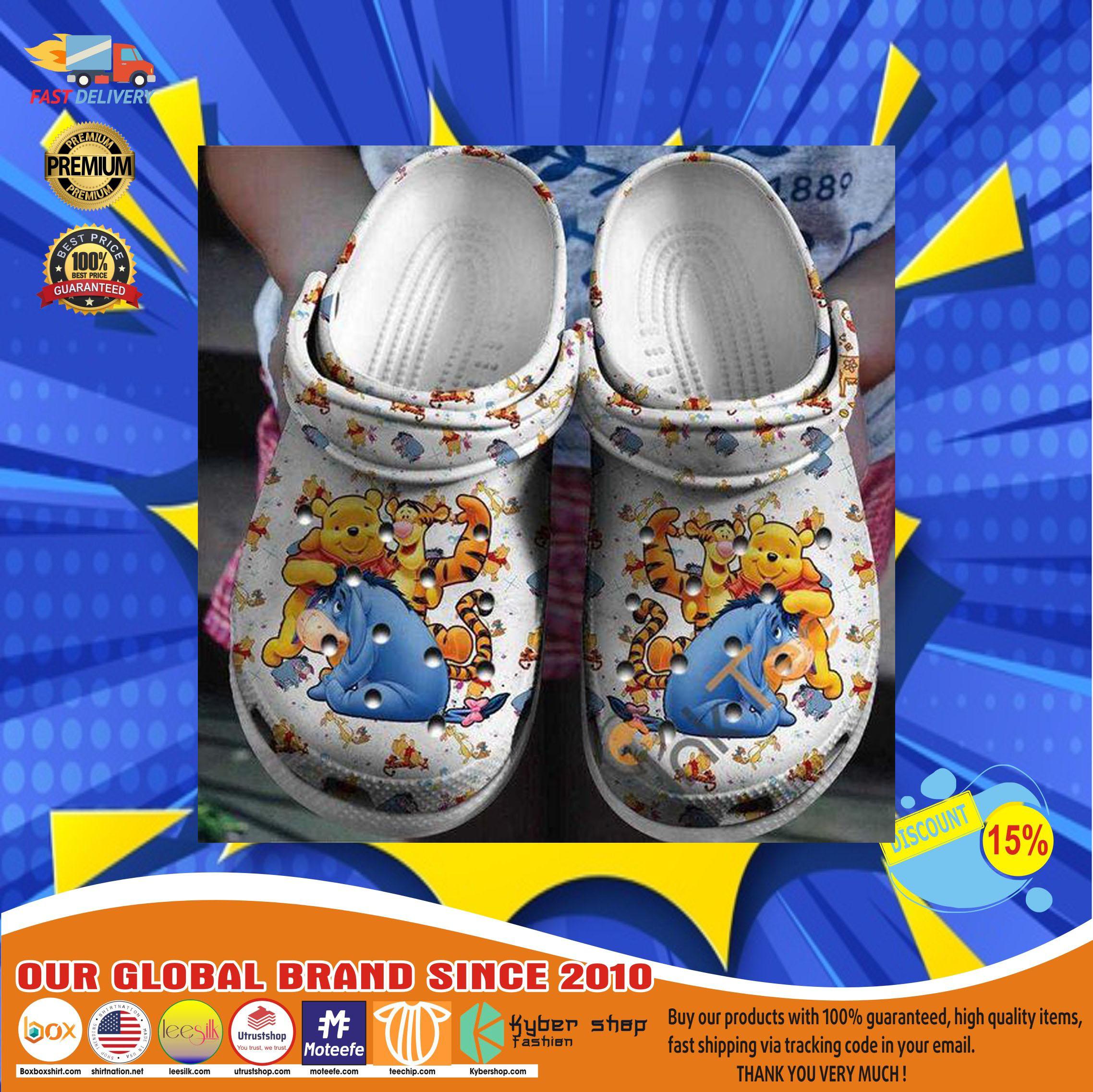 Winnie the pooh crocs clog shoes12