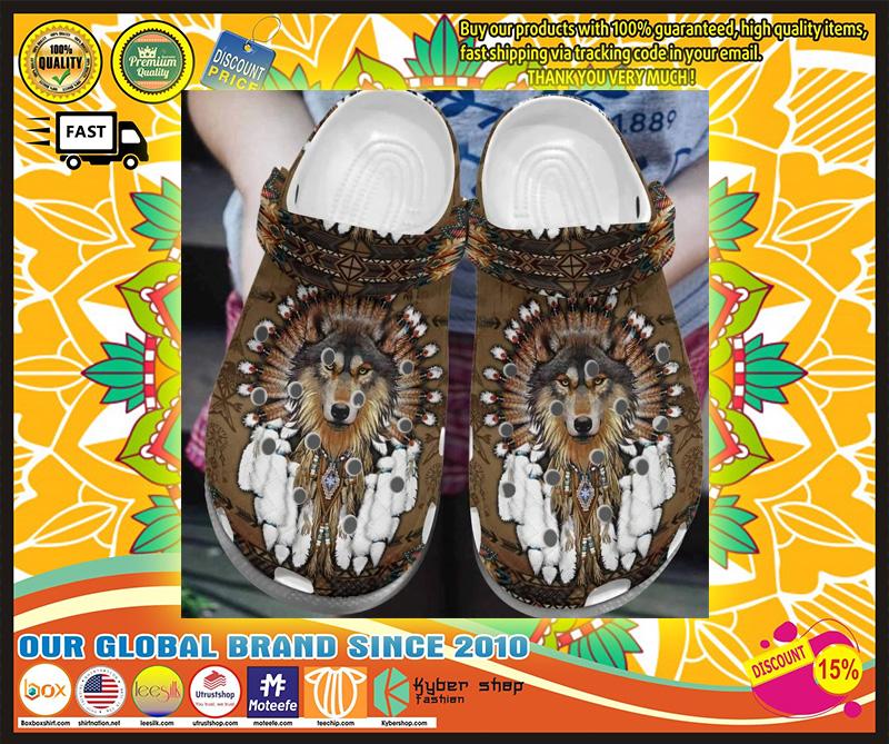 Wolf native American crocs crocband clog 9