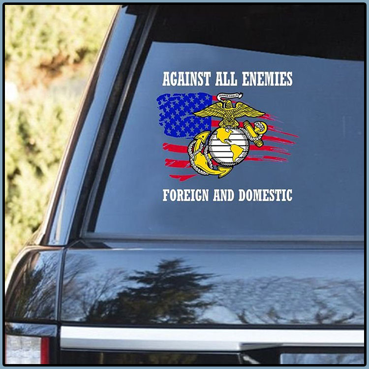 Against All Enemies Foreich And Domestic Decal1