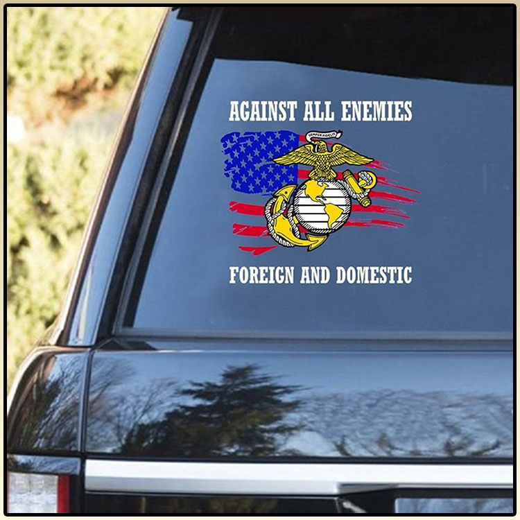 Against All Enemies Foreich And Domestic Decal2
