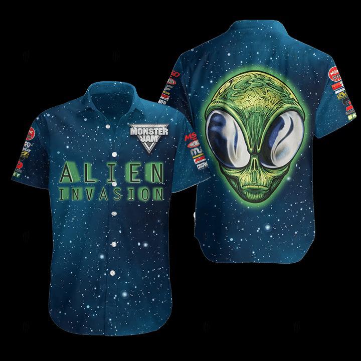 Alien Invasion Hawaiian Shirt 1