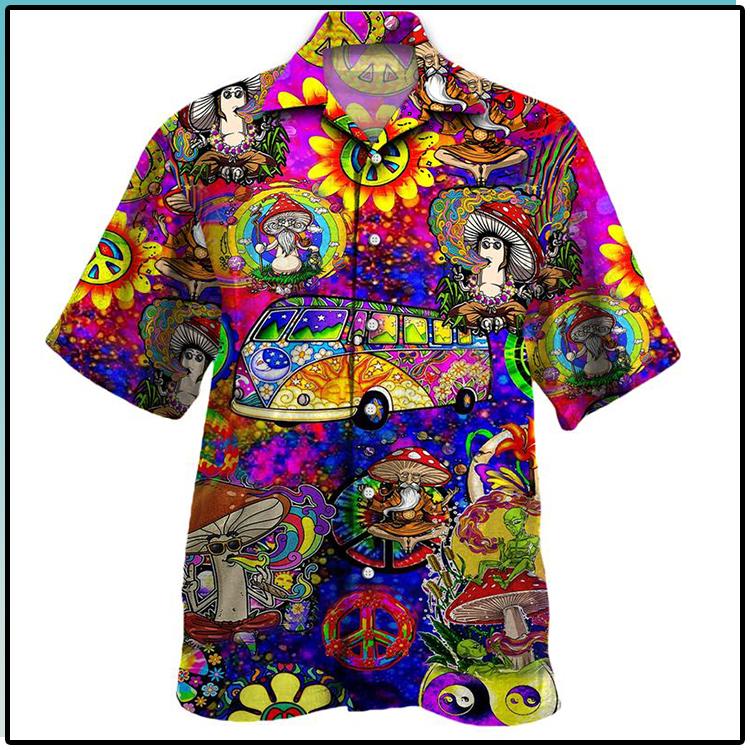 All Over Print Trippy Pattern Hawaiian Shirt 1