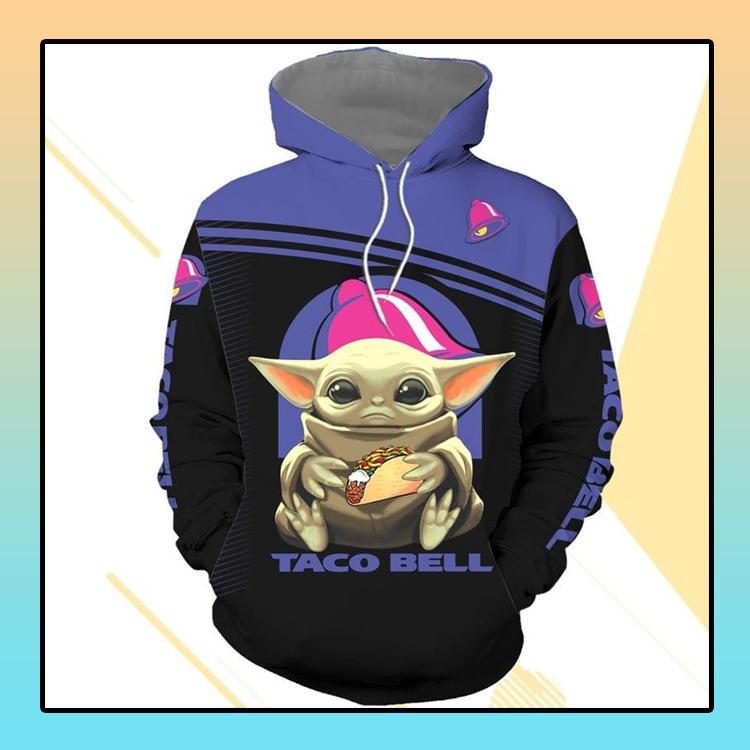 Baby Yoda hug Taco bell 3d over print hoodie